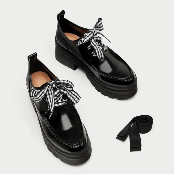 997e4f544c3a Zara Lace Up Derby Platform Shoe